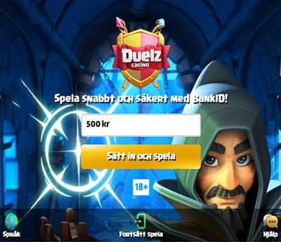Duelz Casino Skarmbild